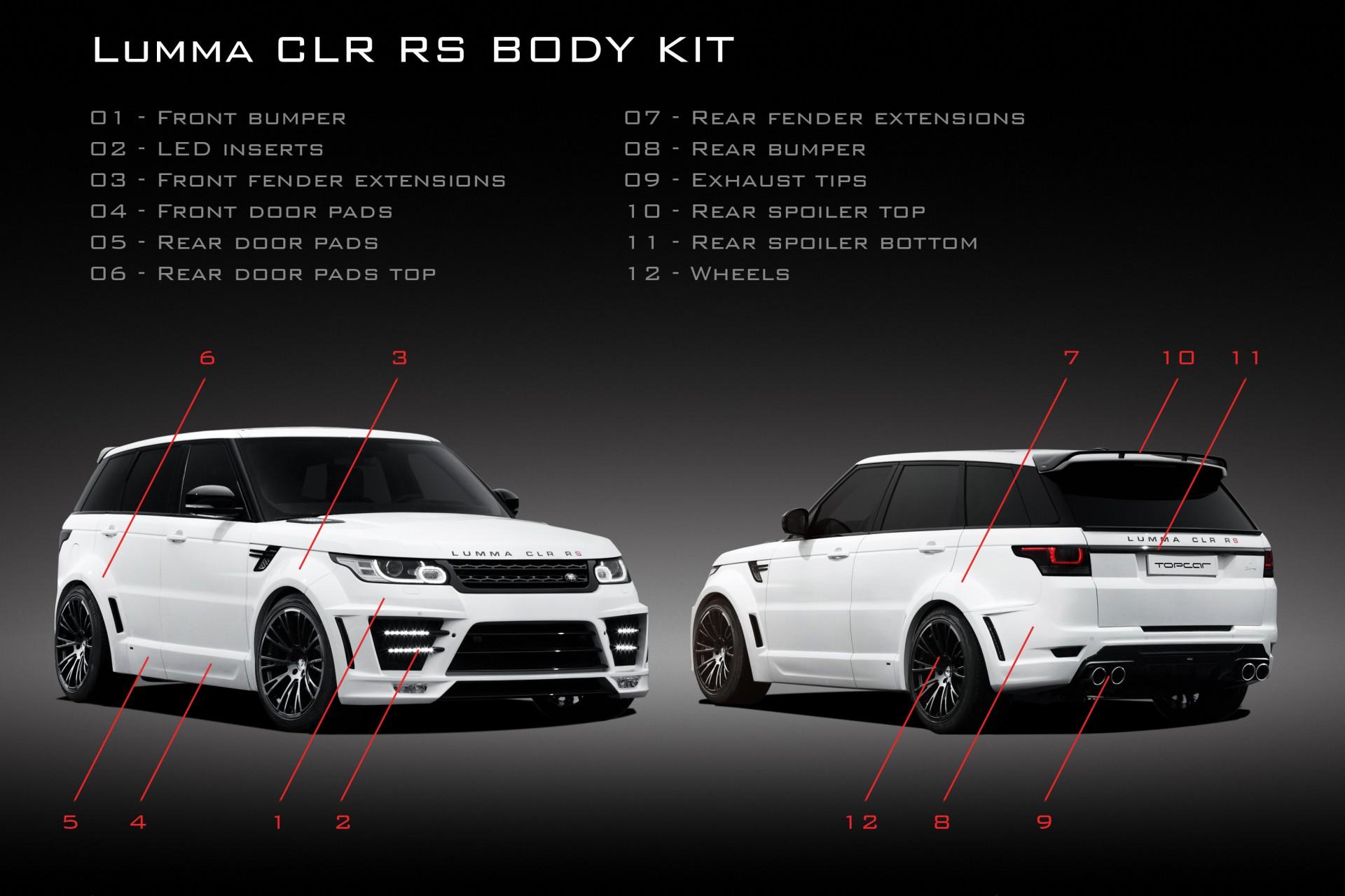 Tuning Lumma Clr Rs For Range Rover Sport 2015 Tuning