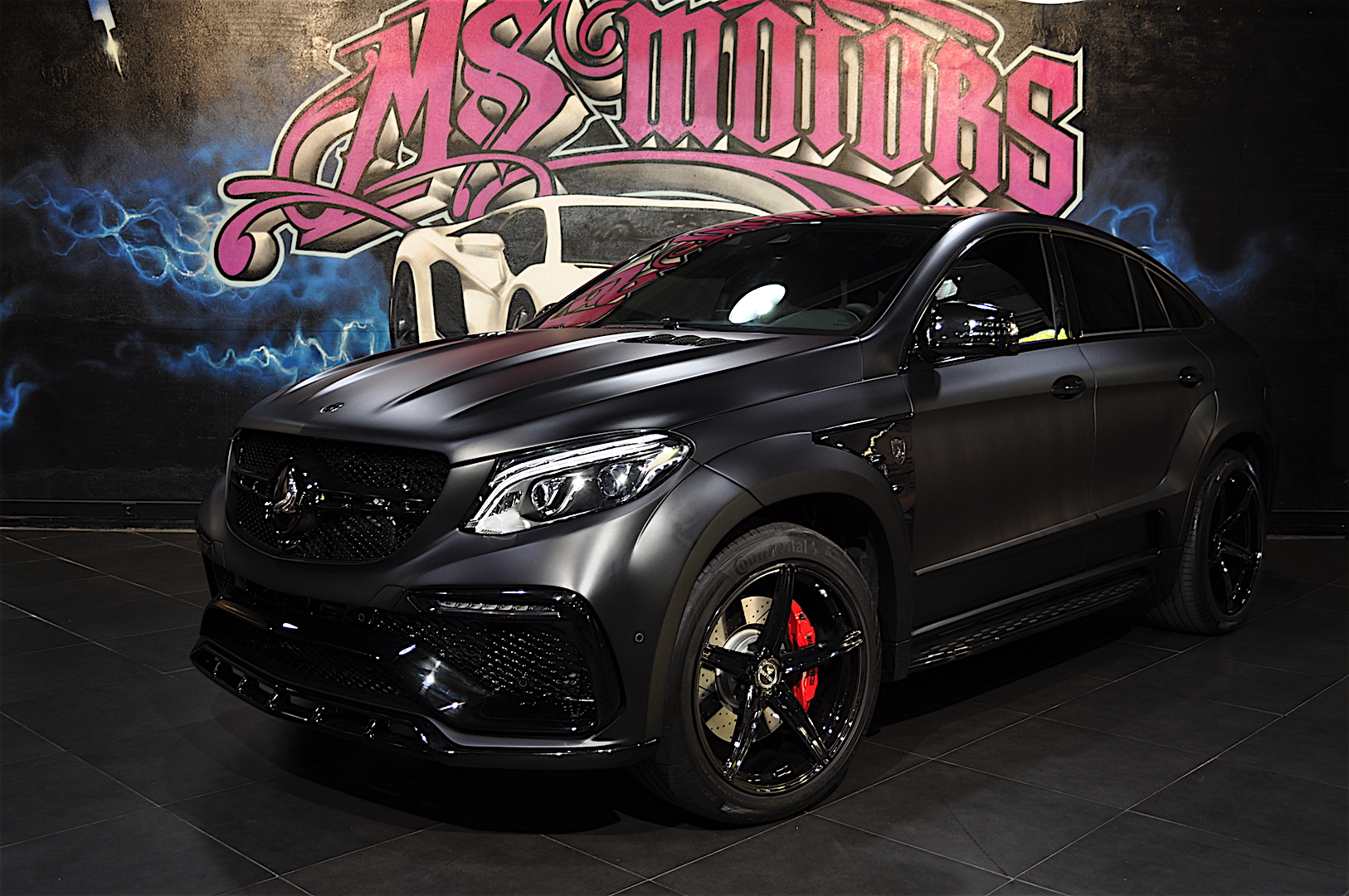 Matte Black Bmw >> Mercedes-Benz GLE Coupe Inferno Black Mat / TopCar