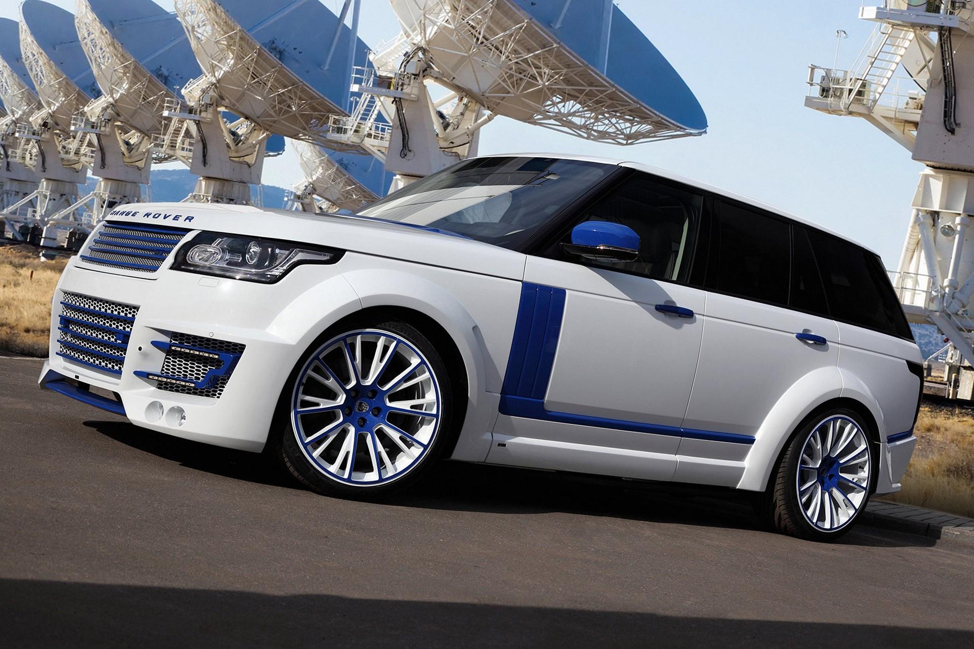 Range Rover Lumma Clr R White And Blue Topcar