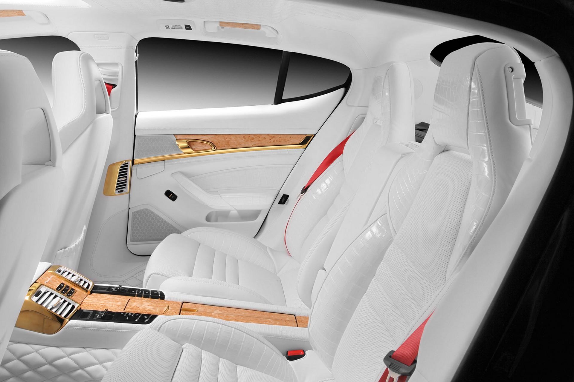 - Porsche Panamera White Red Interior