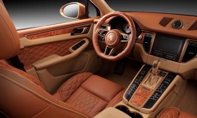 Porsche Panamera 2017 Interior Brown Ads Macan URSA Aurum Metallic