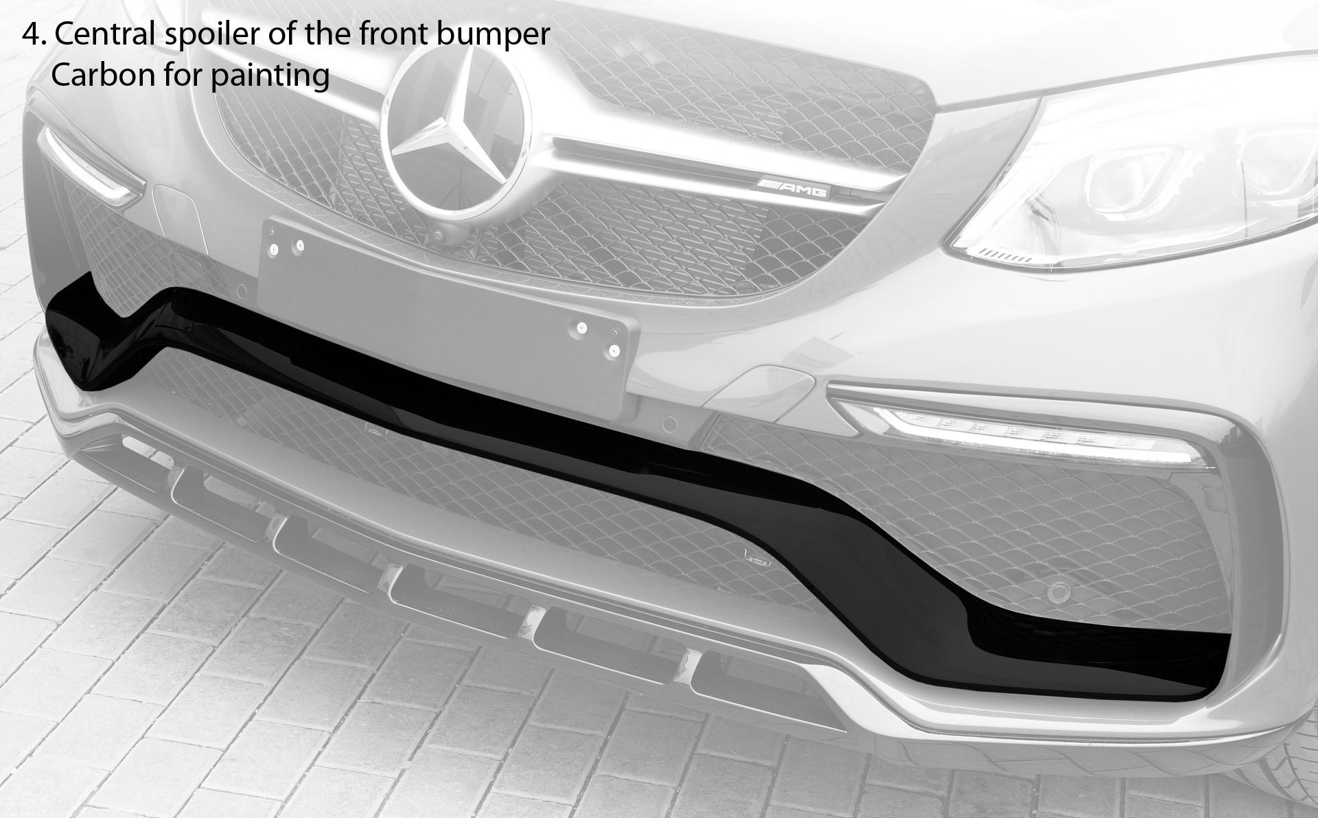 Design of a car bumper - Spoiler Of Front Bumper Center
